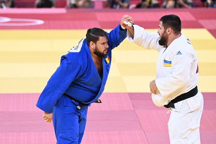 Vlăduț Simionescu, la categoria +100 kg, a fost ultimul judoka român pe tabloul olimpic. // FOTO: Raed Krishan