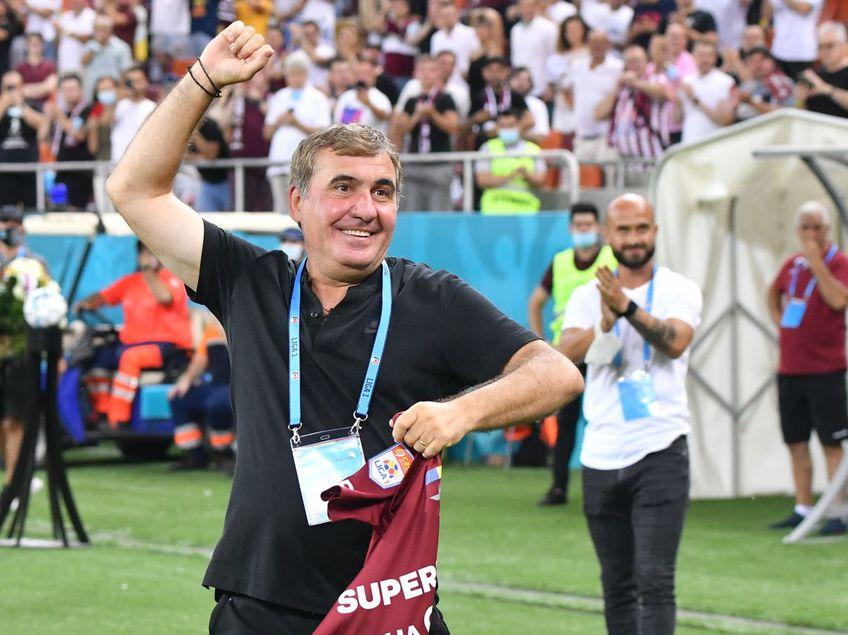 Gica Hagi (55 de ani) a avut parte de o surpriză plăcută pe Arena Națională, înaintea meciului Rapid - Farul, din etapa cu numărul 3 a Ligii 1.