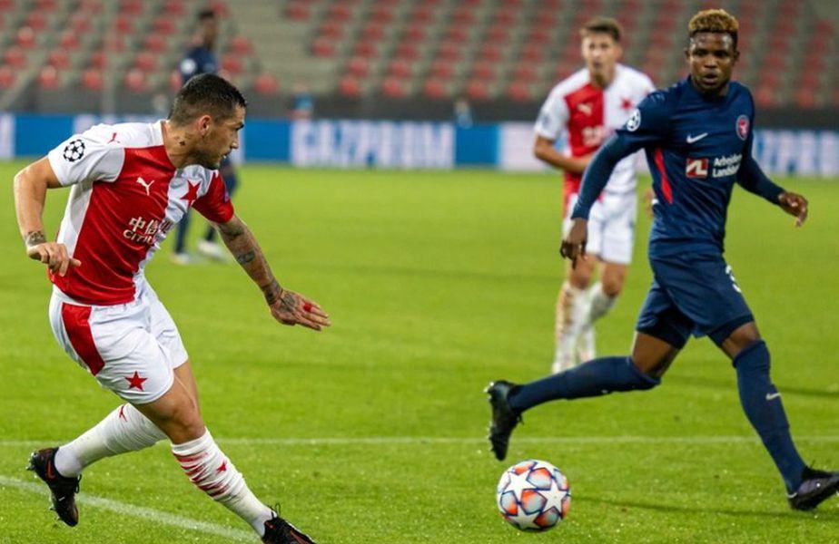 Midtjylland - Slavia Praga. Sursă foto: twitter.com/slaviaofficial