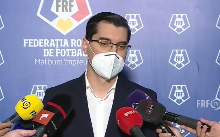 Răzvan Burleanu, președinteleFederației Române de Fotbal, a declarat că infectările de la loturile naționale au pornit de la cluburi, oferind exemplul Viitorului.