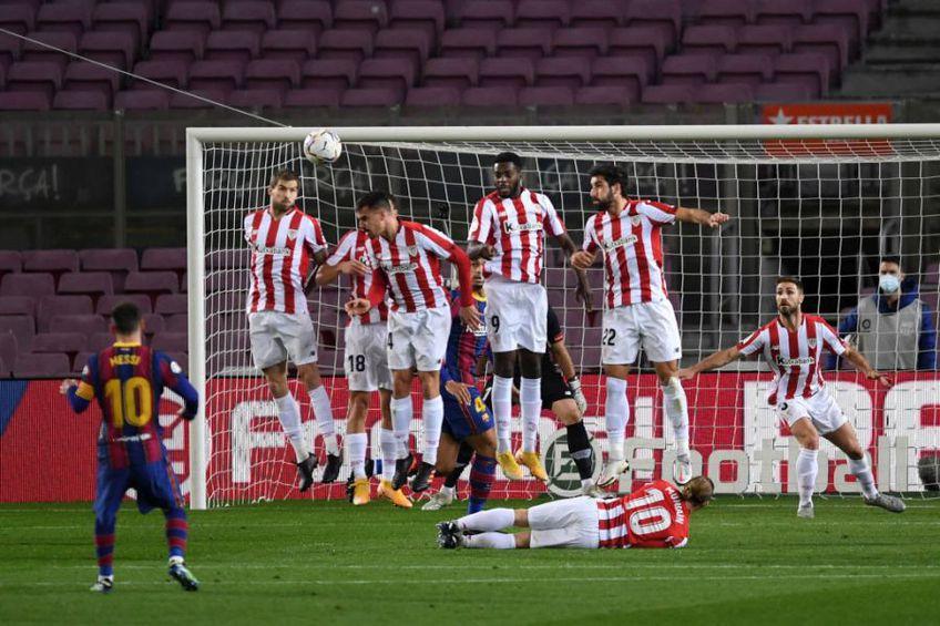 Leo Messi (33 de ani) a reușit un gol superb pentru Barcelona în victoria cu Athletic Bilbao, scor 2-1, din runda #21 a campionatului din Spania.