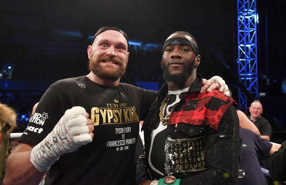 Tyson Fury (stânga) și Deontay Wilder (dreapta) // sursă foto: Guliver/gettyimages