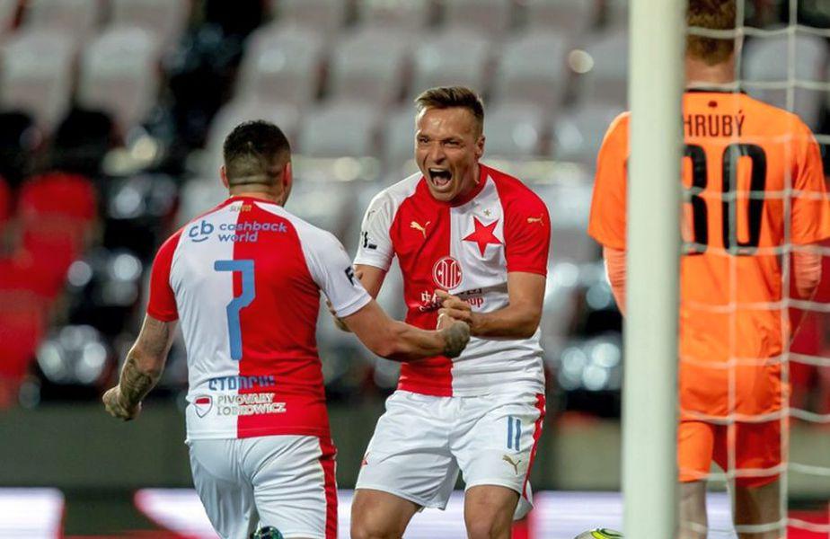Nicolae Stanciu. Sursă foto: Twitter Slavia Praga