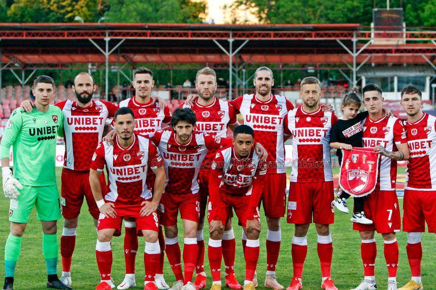 Mihai Eșanu (primul din stânga) / foto: Facebook FC Dinamo