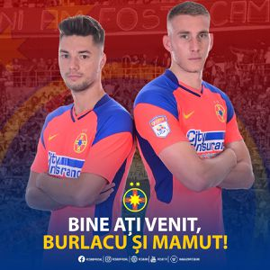 Ivan Mamut și Andrei Burlacu, prezentați oficial la FCSB » Ce numere și-au ales cei doi atacanți și primele declarații în tricoul roș-albaștrilor