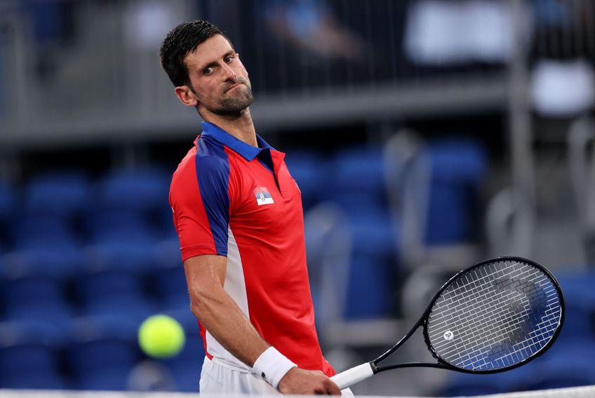 Novak Djokovic (34 de ani, 1 ATP) a fost învins de Pablo Carreno-Busta (30 de ani, 11 ATP) în meciul pentru bronz de la Jocurile Olimpice, scor 4-6, 7-6(6), 3-6.  Sârbul s-a retras ulterior din finala mică a probei de dublu mixt.