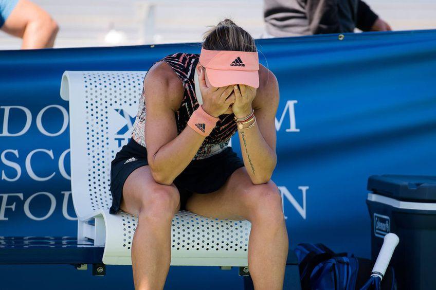 Ana Bogdan, descumpănită după ce a fost eliminată în turul 1 // foto: Imago