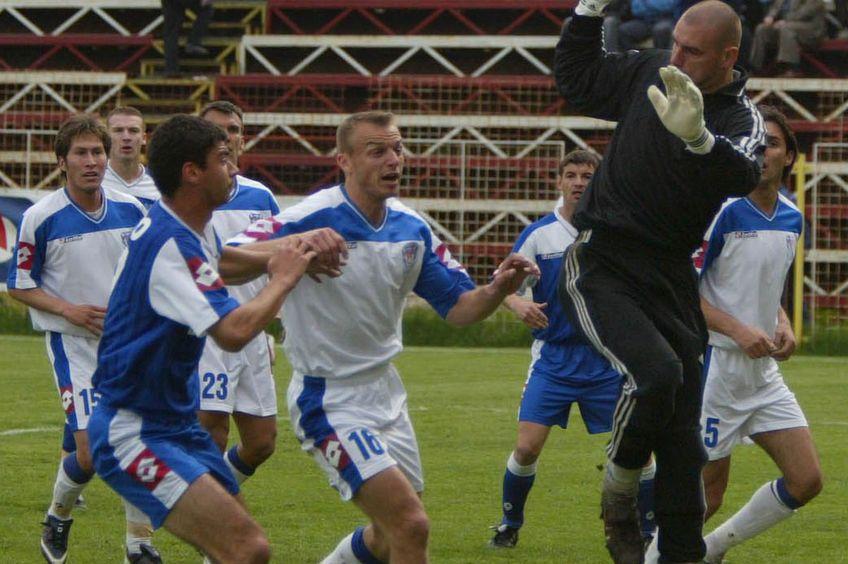 Inter Gaz, într-un meci cu Pandurii, în 2004 // Foto: Arhiva GSP