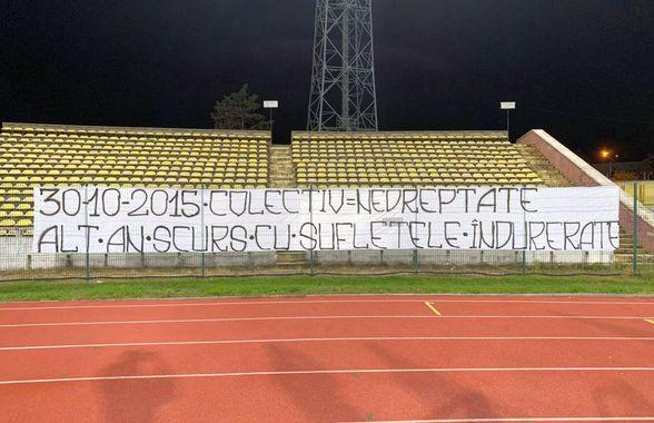 """#COLECTIV. """"Alt an scurs cu sufletele îndurerate"""" » Mesajul afișat în Liga 1, la 5 ani după incendiul din Colectiv"""