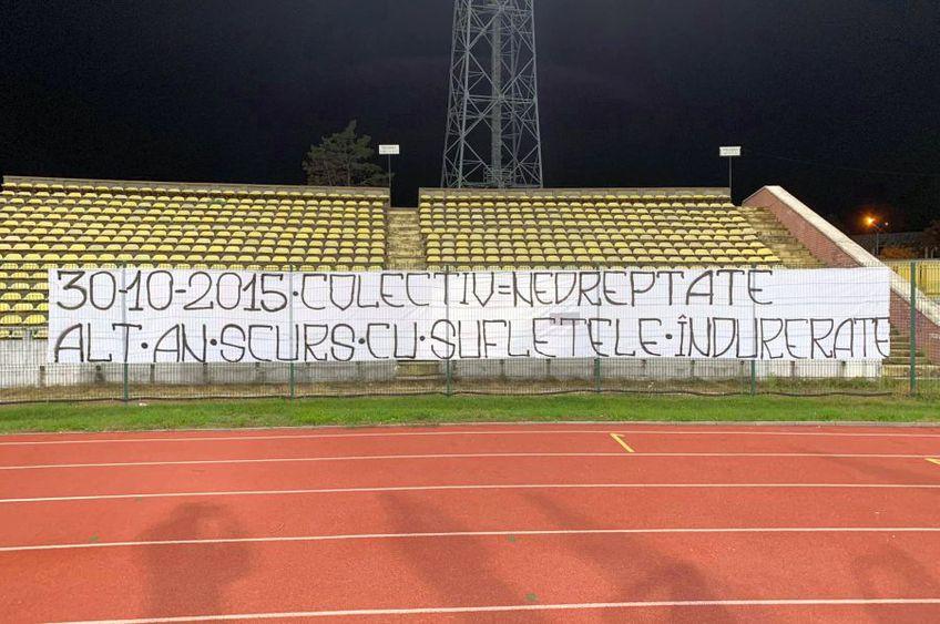 Sursă foto: Facebook Peluza Nord Pitești