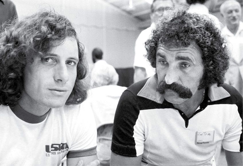 Guillermo Vilas și Ion Țiriac în anii '70